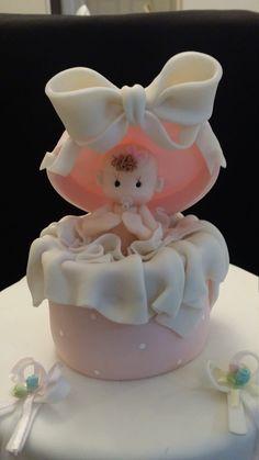 Bebé ducha pastel Topper Topper de la torta del bebé niña
