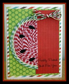 Watermelon Card by Anita Mulcahey for The Twinery