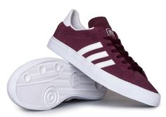 uk availability 2ded4 c3fd4 Adidas Campus Vulc II Adv Skate Shoe - MaroonWhite