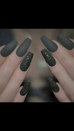 These nails  Gun Metal Grey ❤️