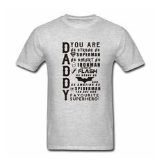 Daddy Superhero T-Shirt Fathers Day Birthday Gift Batman Ironman Thor DC Comics camisetas Superman harajuku men Top Swag Tee