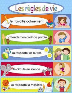 French Language Lessons, French Language Learning, French Lessons, French Teaching Resources, Teaching French, French Classroom, Classroom Rules, French Education, Kids Education