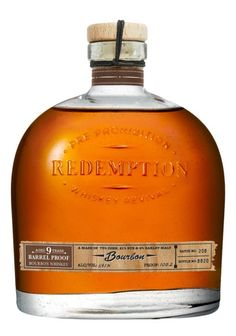 Redemption 9 Year Old Barrel Proof Straight Bourbon Whiskey Whiskey Still, Good Whiskey, Scotch Whiskey, Bourbon Barrel, Bourbon Whiskey, Whisky, Peach Drinks, St Patricks Day Drinks, Whiskey Cocktails