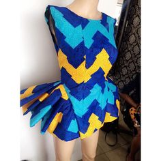 Ankara tops with peplum shape give a figure that blends through all the curves of your body. It fits all body sizes extremely well, and are outstanding and spectacular. Ankara Peplum Tops, Ankara Dress, African Wear, African Dress, African Style, African Outfits, African Clothes, African Beauty, Beautiful Ankara Styles