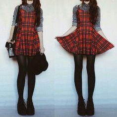Dress red goth alternativ