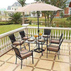 Mainstays Oakmont Meadows 7Piece Patio Dining Set Seats 6 Home