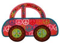 Groovy Car Applique Design