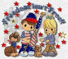 Shelly Piros uploaded this image to & Moments& See the album on Photobucket. Precious Moments Quotes, Precious Moments Figurines, Patriotic Images, Holiday Gif, Holiday Pictures, Animal Coloring Pages, Happy 4 Of July, God Bless America, Veterans Day