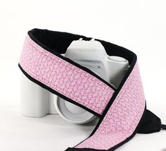 Love and Hope Camera Strap dSLR Pink Ribbon Breast Cancer by ten8e