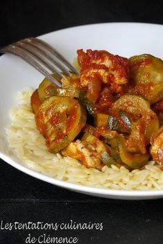 Courgettes et poulet façon tajine, mélange d'épices maison
