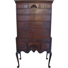 Eldred Wheeler Queen Anne Highboy in Cherry c.1980 |  From a unique collection of antique and modern design pieces available for purchase now. Follow link for more info: https://www.1stdibs.com/dealers/appleton/shop/