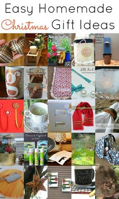 Easy Homemade Christmas Gift Ideas.  Great last minute gift ideas here!  #christmas #giftideas #homemade