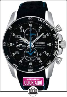Seiko SNAE79P1 - Reloj con correa de piel para hombre, color negro / gris  ✿ Relojes para hombre - (Gama media/alta) ✿ ▬► Ver oferta: http://comprar.io/goto/B006Y9BWIA