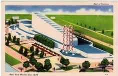 Vintage Postcard - 1939 New York World's Fair - Hall of Fashion