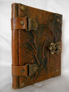 Cool journal! Handmade leather journal notebook sketchbook on a rustic by OXILLA, $34.99