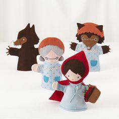 Little Red Riding Hood hand puppet play set