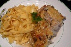 Old German schnitzel casserole by elfe_lara Hamburger Meat Recipes Ground, Corned Beef Recipes, Stew Meat Recipes, Beef Stew Meat, German Schnitzel, Stove Top Recipes, Cooking Dishes, Beef And Noodles, Beef Stroganoff