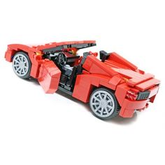 Sports Car - Custom LEGO Element Kit | 2013 | 320 pieces | Inspired by the Ferrari 458 Spider, this is probably the only way I'm ever going to own a Ferrari.