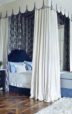 Paolo Moschino #blueandwhite bedroom