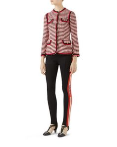 Striped Tweed Jacket and Matching Items by Gucci at Bergdorf Goodman.