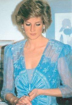 Princess Diana 3/16/89 Banquet at the British Embassy in Dubai