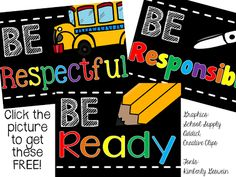 Kicking it in First: Love these PBIS posters! They are adorable and FREE