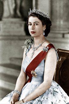 Queen Elisabeth in 1952