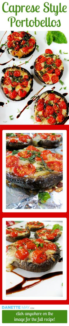 This easy recipe is a skinny taste of Italy! It can be served as a healthy appetizer or for a meal. I love Caprese salad and this is deliciously hearty version. Healthy Recipes For Weight Loss, Clean Eating Recipes, Healthy Eating, Cooking Recipes, Atkins Recipes, Beef Recipes, Yummy Recipes, Quick Recipes, Chicken Recipes