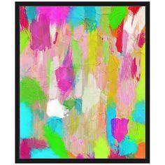 """Hot Pink Mess I 25 3/4"""" High Framed Canvas Wall Art"""