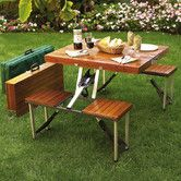 Found it at Wayfair - Portable Picnic Table