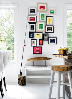 Cottage style: Colourful and creative gallery wall {PHOTO: Donna Griffith}