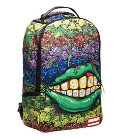 Sprayground X High TimesGanja GrillzBackpackOur First Collab with HIGH TIMES featuring all your favorite strains of ganja in a colorful way. Accompanied by the sexy lips of the Queen of Cannabis. the