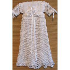 Heirloom Treasures - Heirloom Heritage - Irish Crochet Christening Gown