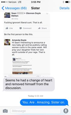 Texts from Sister and Messages from Misogynists :: Glennon Doyle