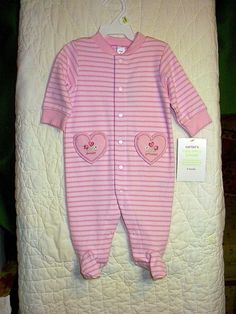 New Carters Baby Girls Infant Sweet Princess Pink Sleep and Play 3M NWT Pretty. Ebay item # 160835755695