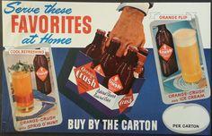 Orange Crush Vintage 1940's Soda Pop Advertising Poster Serve These Favorites  #OrangeCrush