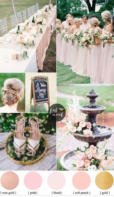 Picking the right colour palette will really help to put your personal stamp on your wedding. A blushwedding tends to be very romantic and feminine and wo