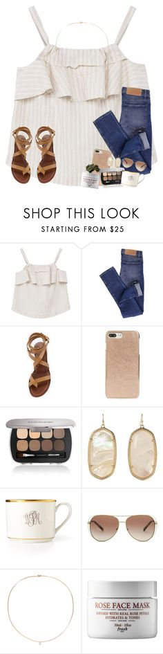 """and all there is right now is stress. stress. stress & more stress"" by karinaceleste ❤ liked on Polyvore featuring MANGO, Cheap Monday, Tory Burch, Kate Spade, Bare Escentuals, Kendra Scott, Pickard, Michael Kors, Loren Stewart and Bobbi Brown Cosmetics"