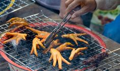 Walkie Talkies, best named street food. That is because it is chicken heads and feet World Street Food, Best Street Food, South African Dishes, South African Recipes, Food Out, Fermented Foods, Vintage Recipes, How To Cook Chicken, Food Truck