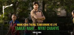 Coach Kabir wanted to make an unbeatable team and he would go to any lengths for it! - Chak De India!