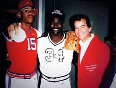 LL cool J  Walter Payton and Dick Clark at the Barbara Mandrell Celebrity Softball Classic. .