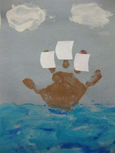 Handprint Mayflower- I choose to think of it as a pirate ship :)