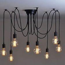 8 Heads Vintage Industrial Ceiling Lamp Edison Light Chandelier Pendant Lighting in Home & Garden, Lamps, Lighting & Ceiling Fans, Chandeliers & Ceiling Fixtures | eBay