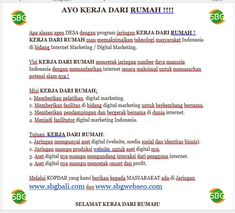 Kerja dari Rumah - SBG INDONESIA