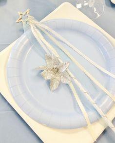テーブルコーディネート♡   おもてなしでまずこだわりたいのは、プレートセッティング♡妖精のおばあさんフェアリー・ゴッドマザーの魔法の杖をイメージ♡
