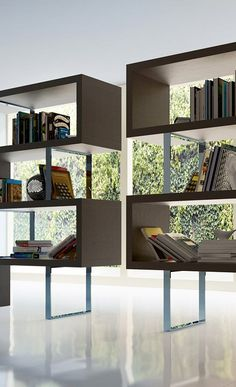 designed brown white wooden pearl bookcase, wooden book shelf