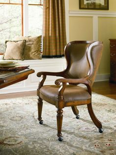Shop for Hooker Furniture Waverly Place Tall Back Castered Game Chair, and other Bar and Game Room Chairs furniture. Dining Arm Chair, Upholstered Dining Chairs, Dining Room Chairs, Office Chairs, Desk Chair, Gaming Chair, Swivel Chair, Dining Tables, Wingback Chair