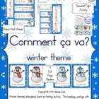 """Here is a Winter themed """"Comment ça va?"""" activity.  Included in this package:Comment ça va?  HeaderÇa va… word wall wordsComment ça va?  atte..."""