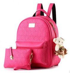 FLYING BIRDS! 2016 women backpack fashion women leather Backpacks ladies girls school bags shoulder bags female bag LS8359fb