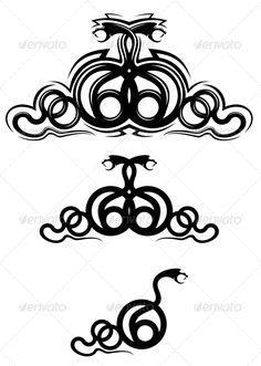 Snake Tattoos #GraphicRiver Isolated snakes as a frame or tattoo design. Editable EPS8 (you can use any vector program) and JPEG (can edit in any graphic editor) files are included SPORTS MASCOTS MEDICINE FOOD LABELS WEDDING DESIGN ELEMENTS FLORAL OBJECTS WEB ICONS ANIMALS Created: 22December12 GraphicsFilesIncluded: JPGImage #VectorEPS Layered: Yes MinimumAdobeCSVersion: CS Tags: aggression #anger #animal #art #bite #biting #black #cartoon #cobra #curve #danger #evil #fang #icon…